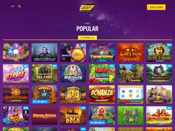 Lucky Casino Desktop - Home
