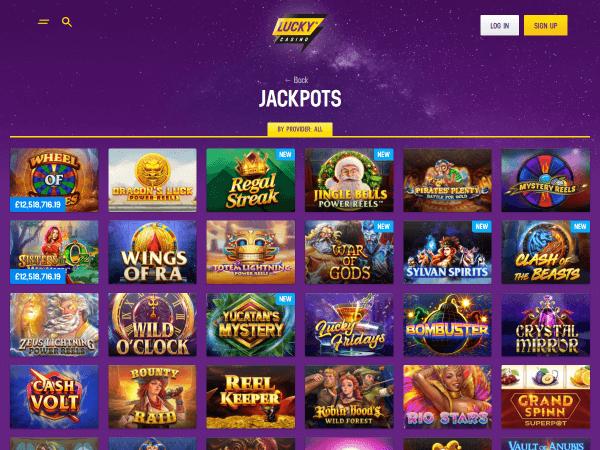 Lucky Casino Desktop - Jackpots