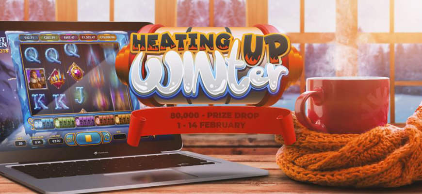 Heat up your winter with an £80,000 prize drop at PlayOJO - Banner