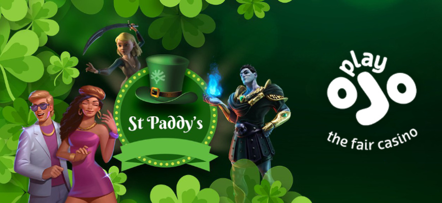 Win a share of £60,000 in PlayOJO's St Paddy's Tournament - Banner