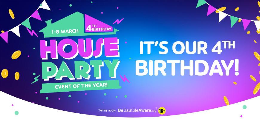 Celebrate PlayOJO's 4th Birthday with over £20k in prizes - Banner