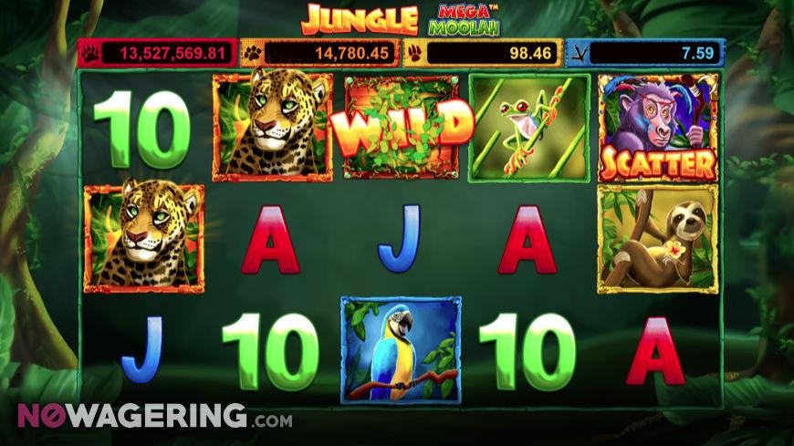 Jungle Mega Moolah Online Slot by Microgaming Screenshot 1