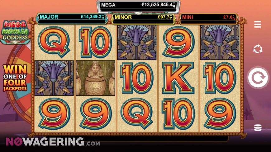 Mega Moolah Goddess Online Slot by Microgaming Screenshot 1