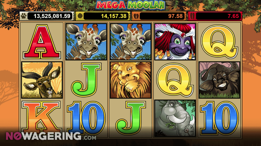 Mega Moolah Online Slot by MicroGaming Screenshot 1