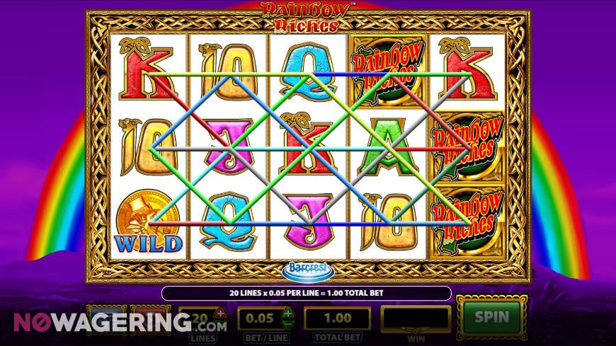 Rainbow Riches Online Slot by SG Digital - Screenshot
