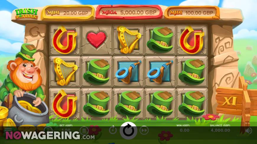 Irish Pot Luck Online Slot by NetEnt - Screenshot