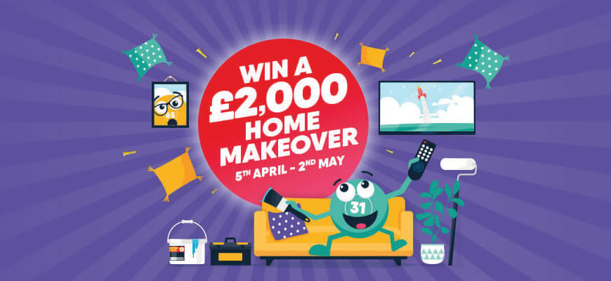 Win £2,000 worth of home makeover vouchers with Buzz Bingo - Banner