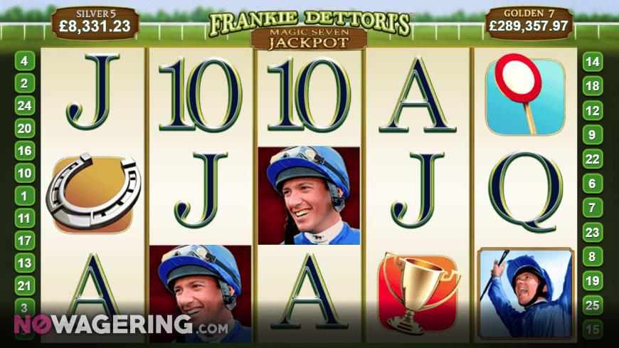Frankie Dettoris Magic Seven Jackpot Online Slot by Playtech Screenshot 1