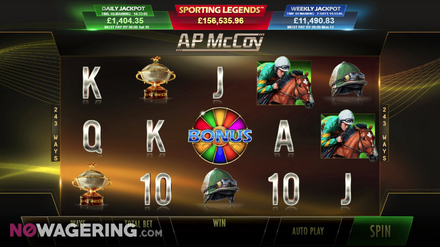 AP McCoy Sporting Legends Online Slot by Playtech Screenshot 1