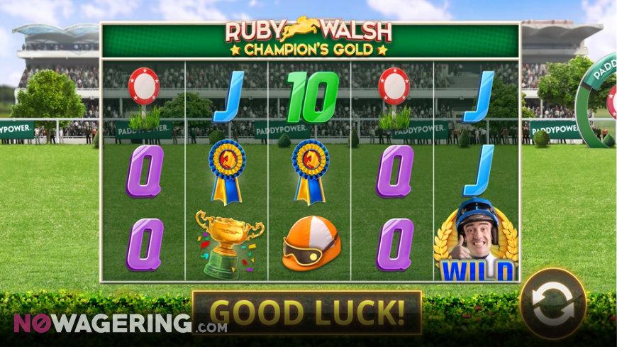 Ruby Walsh Champions Gold Slot Online Slot by Cayetano Screenshot 1