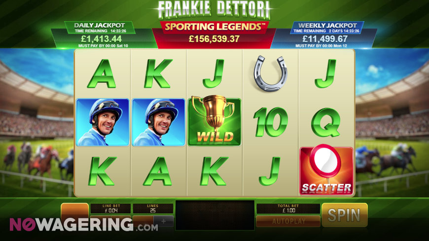 Frankie Dettori Sporting Legends Online Slot by Playtech Screenshot 1