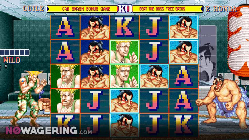 Street Fighter 2 World Warrior Slot Online Slot by NetEnt Screenshot 1