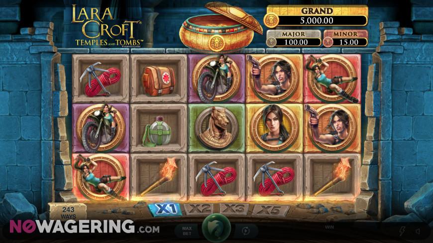 Lara Croft Temples and Tombs Online Slot by Triple Edge Studios Screenshot 1