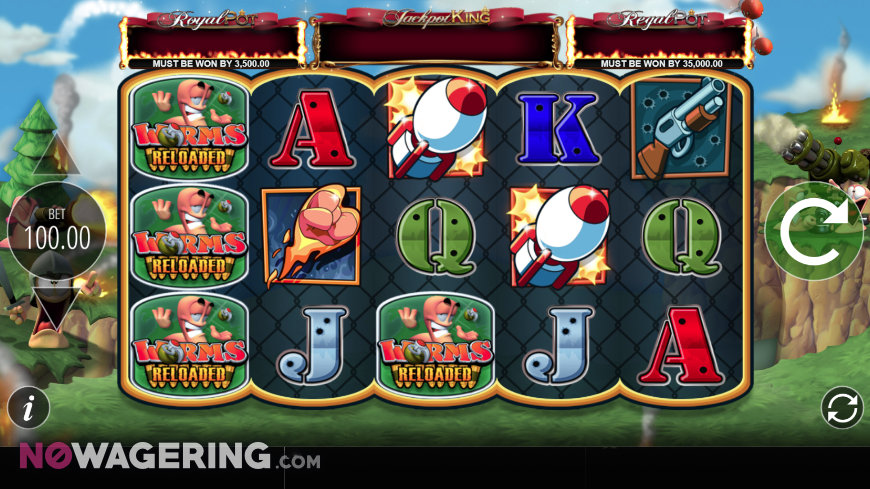 Worms Reloaded Online Slot by Blueprint Gaming Screenshot 1