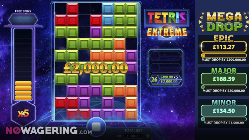 Tetris Extreme Online Slot by Red 7 Screenshot 1