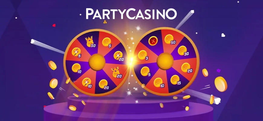 Win up to 100 free spins daily on Party Casinos Free Spins Wheel Hero