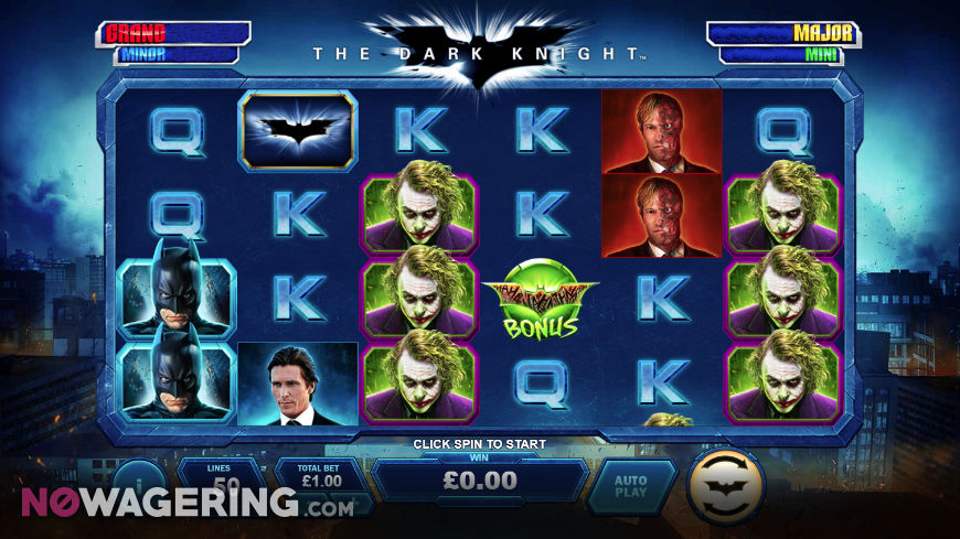 The Dark Knight Online Slot By Playtech Screenshot 1