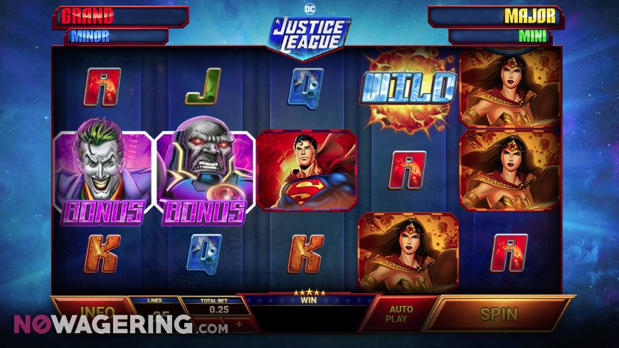 DC Justice League Online Slot By Playtech Screenshot 1