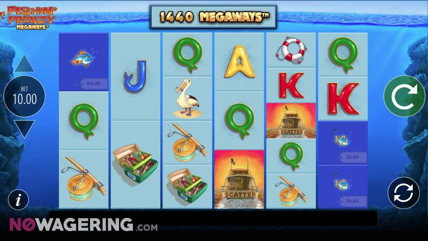 Fishin Frenzy Megaways Online Slots By Blueprint Gaming Screenshot 1