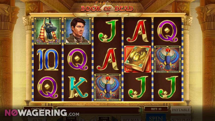 Rich Wilde Book of Dead Online Slot By Play N Go Screenshot 1