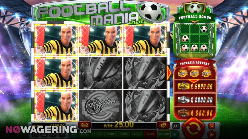 Football Mania Deluxe Online Slot by Wazdan Screenshot 1