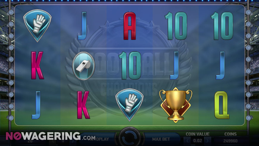 Football Champions Cup Online Slot by NetEnt Screenshot 1