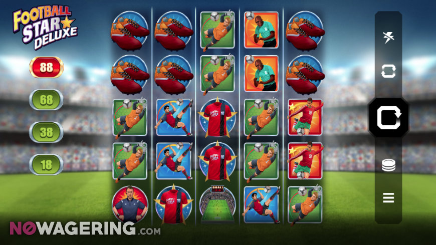 Football Star Deluxe Online Slot by MicroGaming Screenshot 1