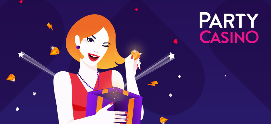 Win a share of £5,000 on Party Casino's Weekly Prize Draw - Banner