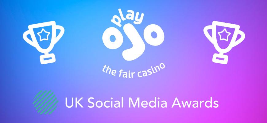PlayOJO win big at the Social Media Awards 2021 - Banner