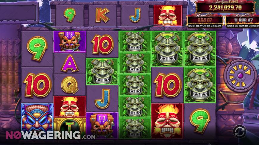 Tiki Treasures Megaways Online Slot by Blueprint Gaming Screenshot 1