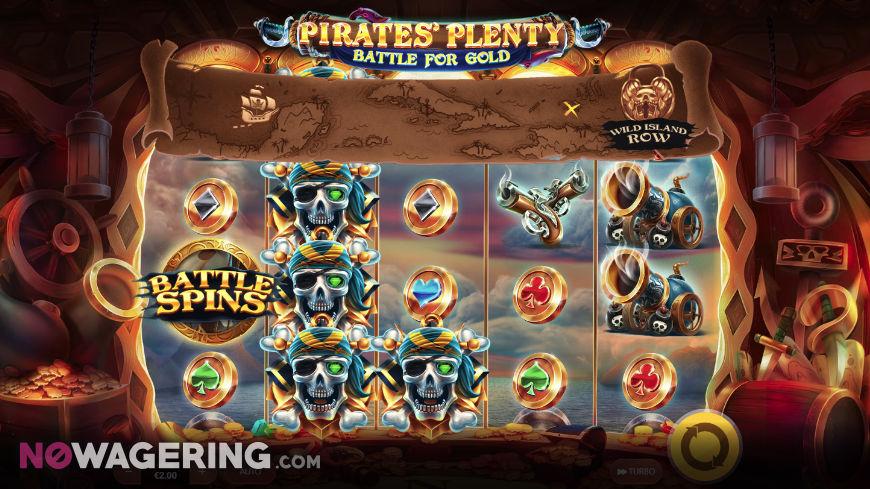 Pirates Plenty Battle for Gold Online Slot by Red Tiger Gaming Screenshot 1
