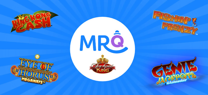 MrQ adds popular Jackpot King slots to their casino lobby - Banner