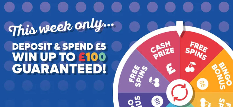 Win cash, free spins and bingo bonuses with Buzz Bingo's Bonus Spinner - Banner