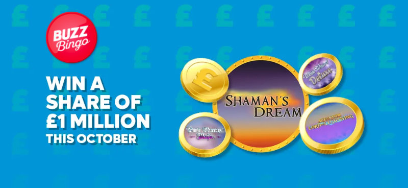 Win a share of £1m with Buzz Bingo's Slots Draw - Banner